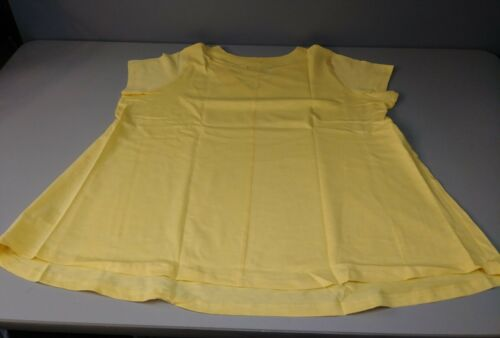 NEW ELLOS WOMENS MEDIUM YELLOW TOP WORKOUT CASUAL SUMMER SHIRT SLEEVELESS NIP