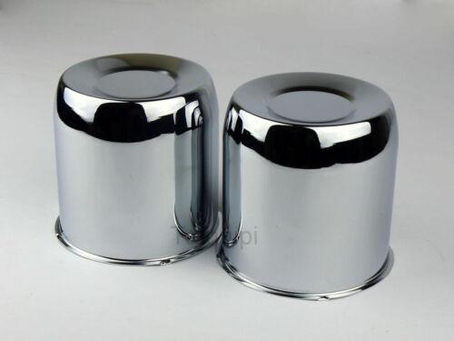 "2 4.25/"" Steel Chrome Center Caps For 6 lug Push Thru Trailer wheel rims Bore"