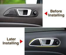 Ford Fiesta Mk7 Universal Rhd Lhd Door Card Surrounds Covers Aluminium