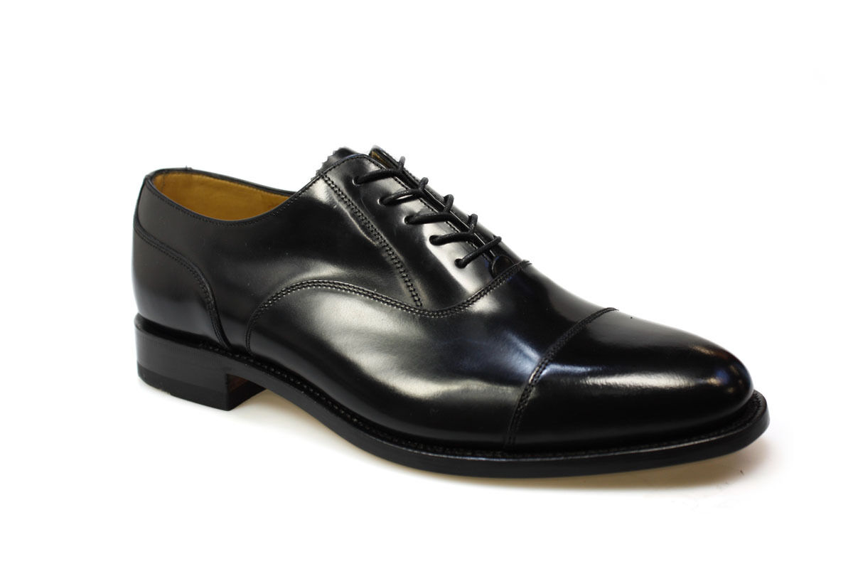 Loake Mens 200B Formal Black Oxford shoes, Polished Leather, Goodyear Welted