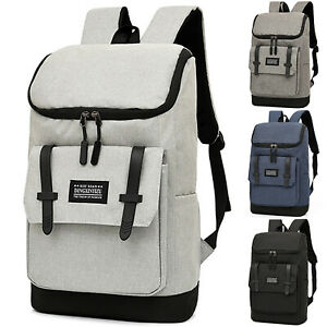 New Men Vintage Canvas Backpack College Students Backpack School Bag Rucksack