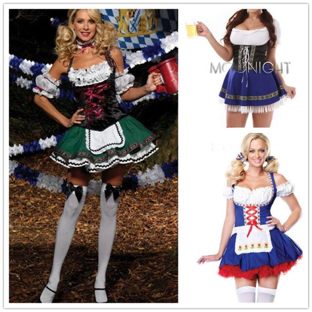 WOMEN GERMAN BEER GIRL Costume German Beer Girl Halloween Party Costume Dress