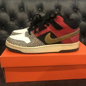 big sale 75cc6 ae59c RARE Nike Delta Force 3/4 Deluxe Mita Japan Red Gold Elephant 10 ...