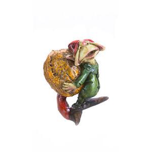 "Pixie Lifting Walnut, 2.5"" x 2"" x 2"" - Resin - Fairy Garden Dollhouse Miniature"