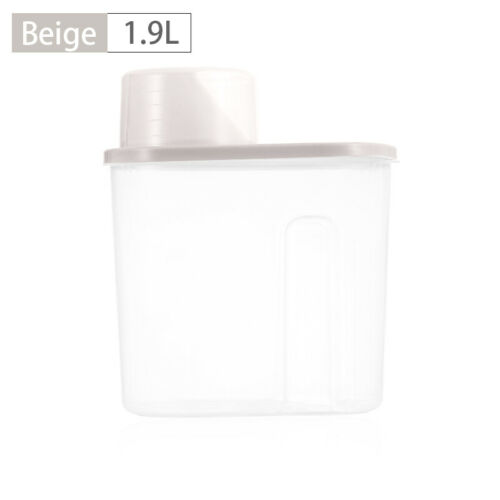 2.5L 4Pcs Plastic Cereal Dispenser Storage Box Kitchen Food Grain Rice Container