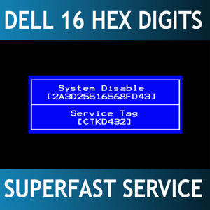 Details about Dell 16 digits HEX Bios password remove Vostro / Alienware /  Inspiron 24/7 Fast