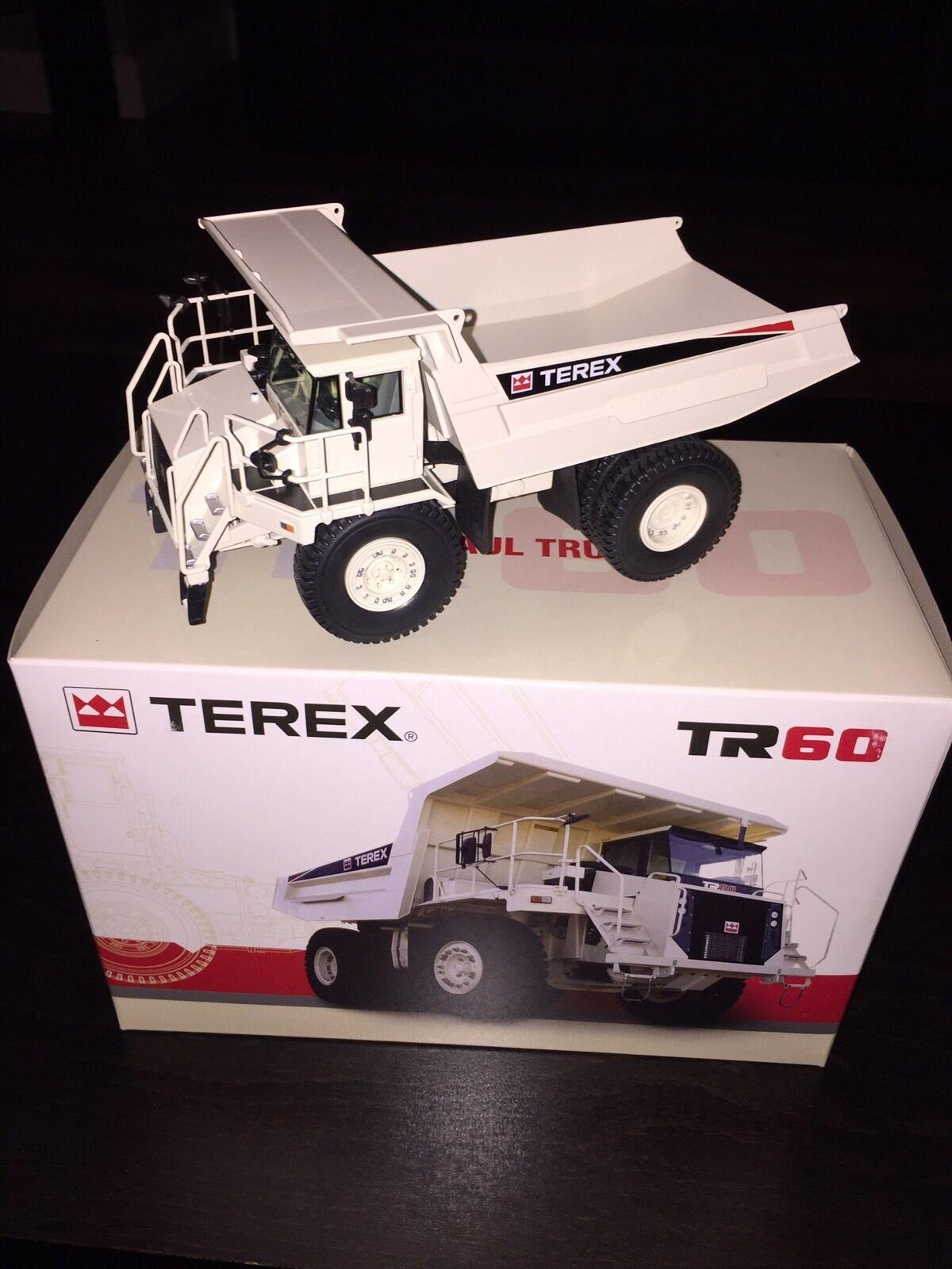 Äkta Terex TR60 Rigid Haul Dump Truck grå 1 50 NZG (Dealer Model)