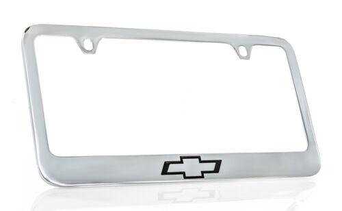 Chevrolet 2012-16 Logo Chrome Plated Brass Metal License Plate Frame Holder