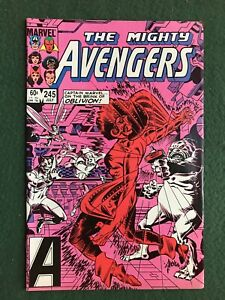 Avengers #245 Marvel Comics Copper Age Captain America Captain Marvel vf/nm