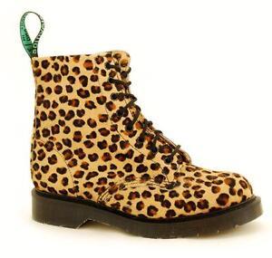 Solovair Nps Shoes Made In England 8 Eye Leopard Fur Boot S070-s8551leo7b Um Sowohl Die QualitäT Der ZäHigkeit Als Auch Der HäRte Zu Haben