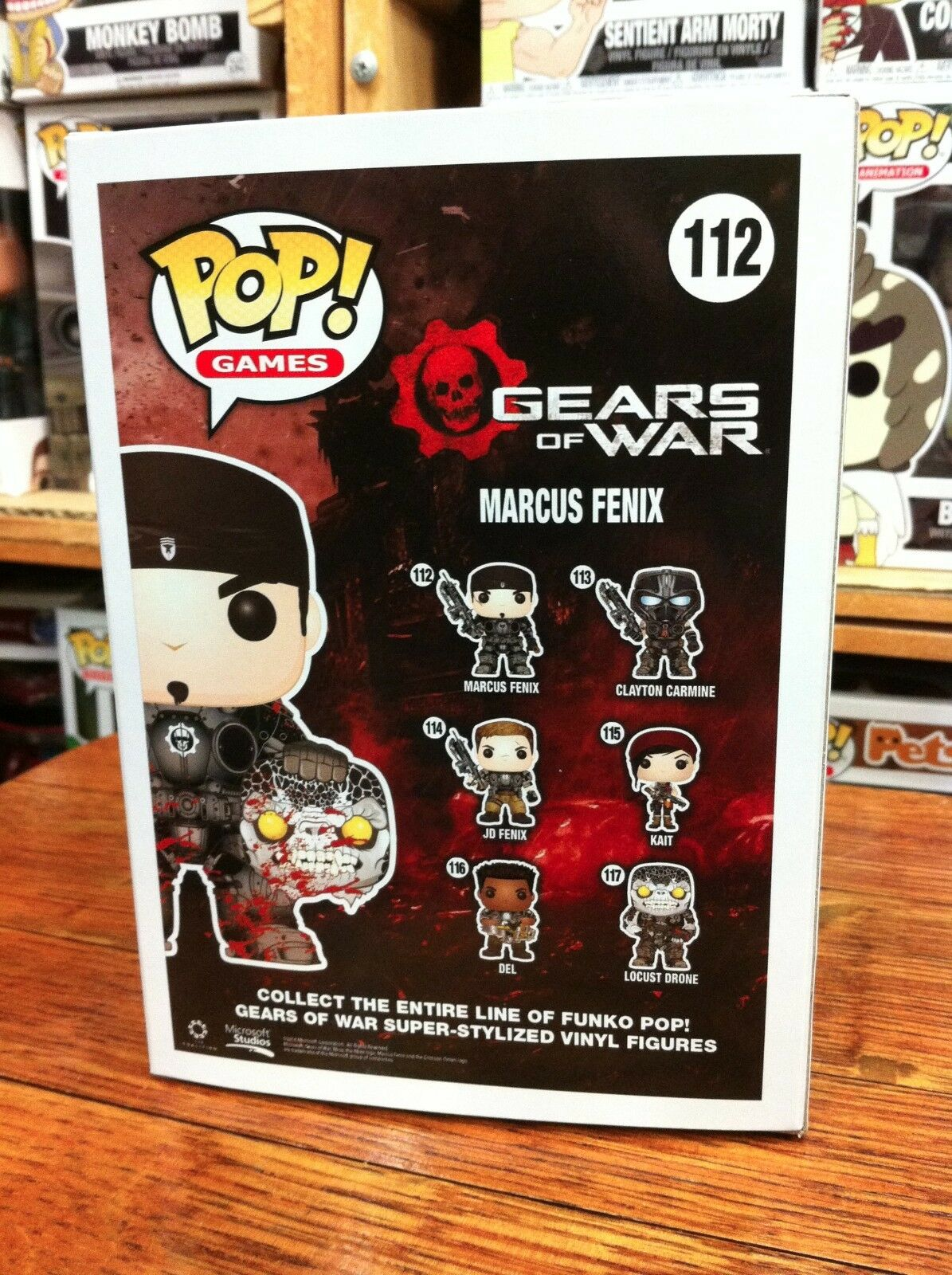 Marcus Fenix Fenix Fenix Gold Lancer 112 SDCC 2016 US Exclusive Funko Pop Vinyl d0e77b