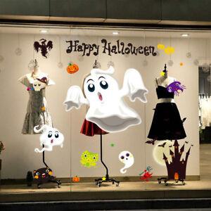 Halloween-Autocollant-Sticker-Mural-Fenetre-Vitre-Citrouille-Sorciere-Decoration