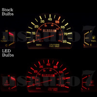 Dash Instrument Cluster Gauge Red Leds Lights Kit Fits 79-88 Toyota Pickup Truck