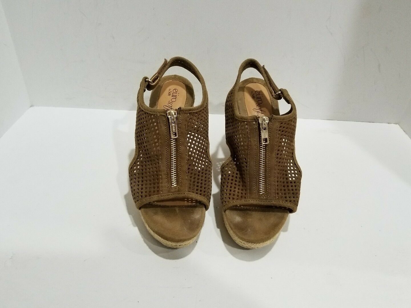 6376f37557 Euro Soft Womens Brown Suede M Wedge Sandals Size 7 M Suede 336b11 ...