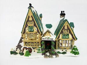 Lemax Christmas Village Carole Towne - White Oak Lodge (2003) Good Condition!