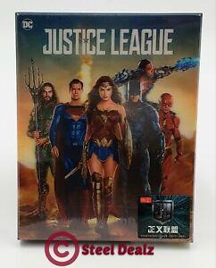 JUSTICE-LEAGUE-4K-UHD-Blu-ray-STEELBOOK-HDZETA-SINGLE-LENTICULAR-OOS-OOP