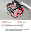 """Mzyrh MTB Mountain Bike Pedals CNC 9//16/"""" Cycling Bicycle Sealed 3 Bearing Pedals"""