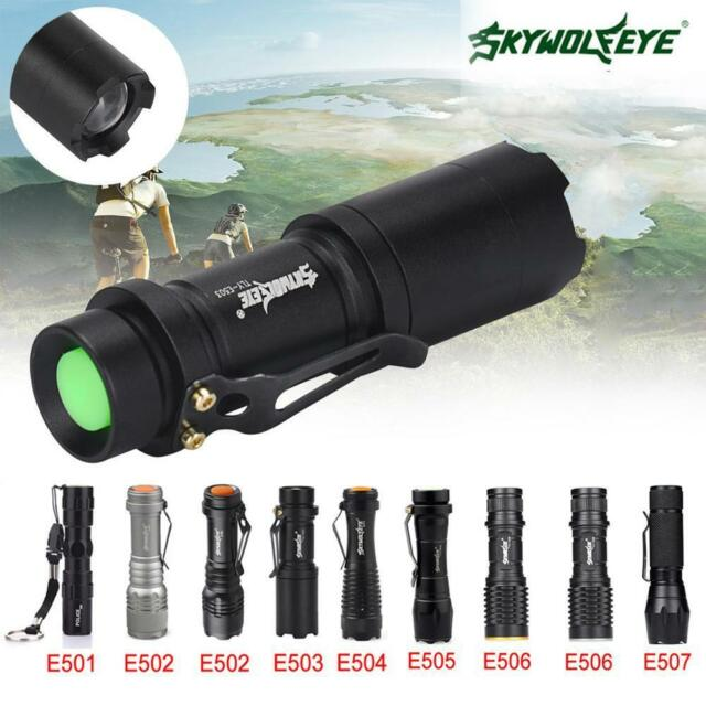 Zoomable 8000 LM Pocket LED Flashlight 3 Modes Waterproof Torch Mini Penlight=Y.