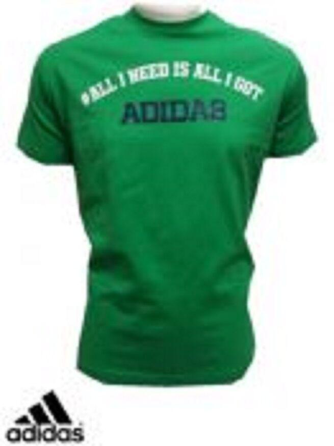 Mens Adidas Alles was ich brauche ist alles was ich habe T-Shirt-Bio-Baumwolle / Baumwollmischung