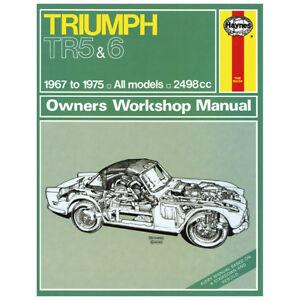 haynes triumph tr5 tr6 workshop manual mgl6216x ebay rh ebay co uk haynes triumph tr6 manual Triumph TR4