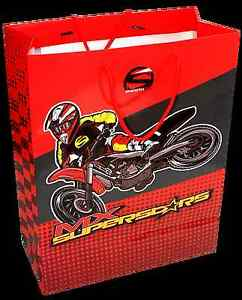 Smooth Industries MX Superstars Gift Bag w/checkered pattern paper - Large