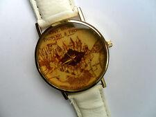 Reloj de Cuarzo nuevo mapa de Harry Potter merodeadores oro ante Correa Blanco