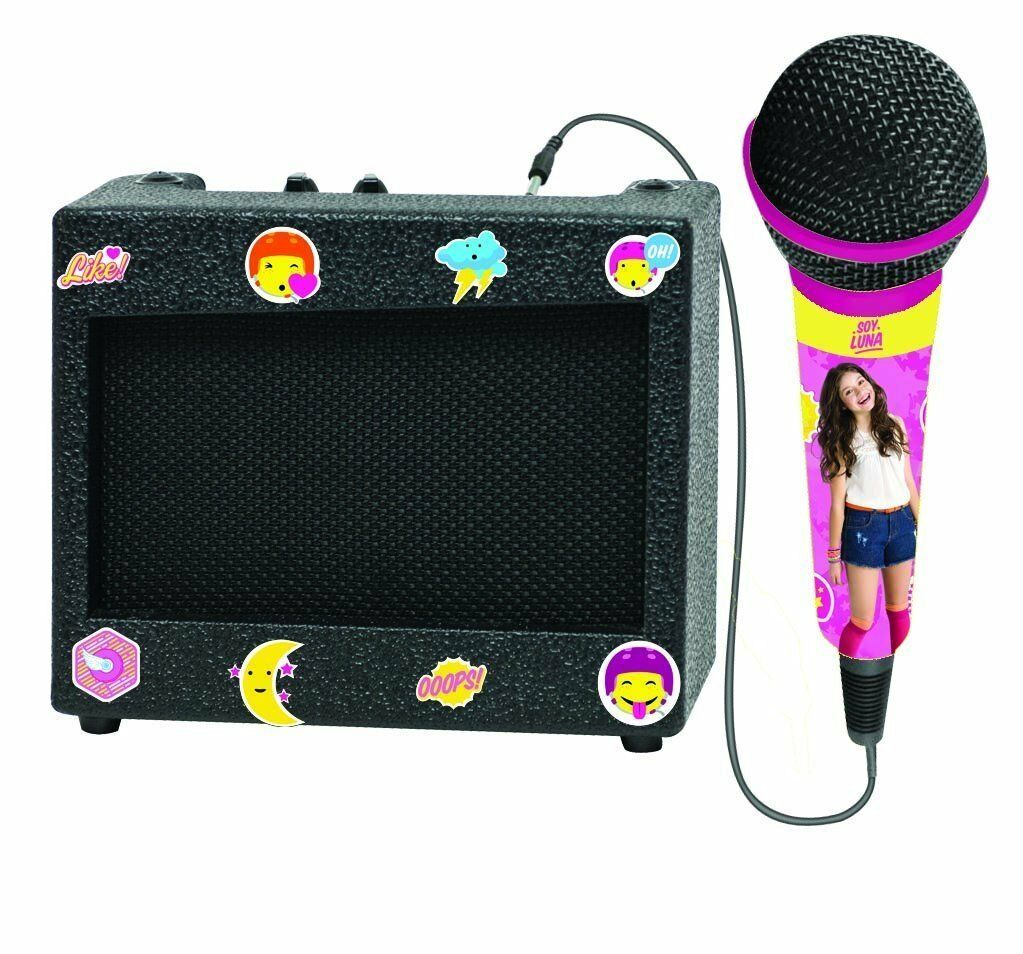Soy Luna Portable Speaker Amplifier 10W with Microphone Toy Girl Lexibook