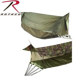 Image Is Loading Military Style Covered Jungle Hammock  Mosquito Netting Screen