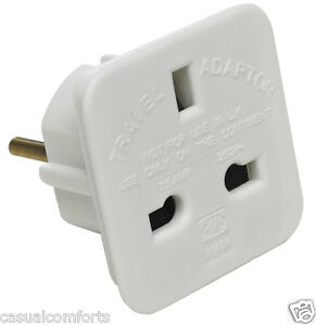 UK-MAINS-POWER-3-PIN-PLUG-TO-EURO-CONTINENTAL-2-PIN-PLUG-ADAPTOR-CONVERTER-WHITE