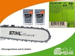 Schwert 30cm 3//8P 44TG 1,3mm passend für Stihl 025 MS 250 Guide Bar Schiene