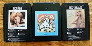 3-lot-8-Track-tapes-Bette-Midler-No-Frills-Thighs-And-Whispers-Broken-Blossom