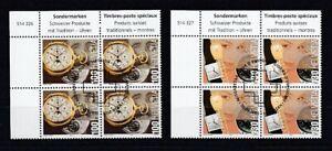 Switzerland-1933-34-Watches-Block-of-Four-Set-Oo