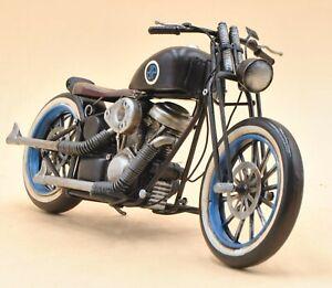 Harley Davidson Motorcycle Model Easy Rod Custom Rider Touring Bike 1/12 Black