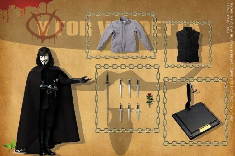 1 6 V de Vendetta 2.0 Solider Figura Coleccionable Set Juguetes Power CT013
