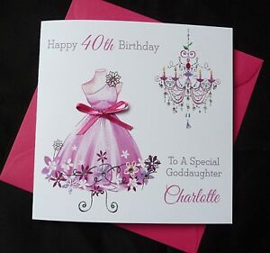 Image is loading  PERSONALISED-Handmade-BIRTHDAY-Card-Fashion-Dress-16th-18th-