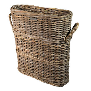 Slim-Line-Basket-Storage-Umbrellas-Loo-Roll-Bathroom-Grey-Rattan-High-End-Narrow