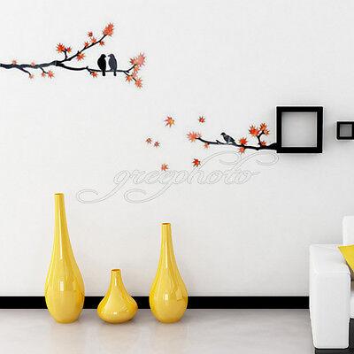 DIY Tree Branch Birds Mural Removable Art Decal Vinyl Wall Sticker Home Decor