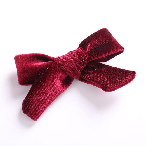 Bowknot Hair Clip Velvet Bow Hair Pin Barrette Baby Girls Hair Accessories 1PC