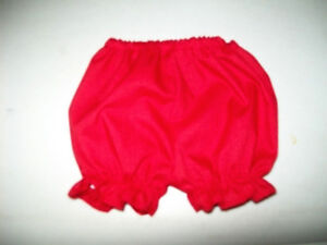"""WHITE RUFFLED PANTY PANTIES BLOOMERS for 15-16-18/"""" CPK Cabbage Patch Kids"""