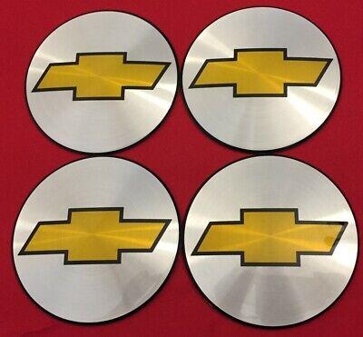 4X BLACK Chevy Silverado 1500 Tahoe 6//8 Lug Center Caps LOGOS BADGES SIGN EMBLEM