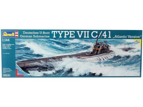 Neu Revell 05100-1//144 Deutsches U-Boot Typ Vii C//41 Atlantik Version