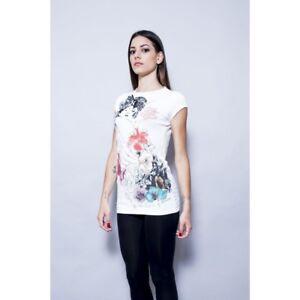 quality design 646bc f4bc2 Dettagli su GUESS T-Shirt donna cotone manica corta tg M maglia design  geisha flower