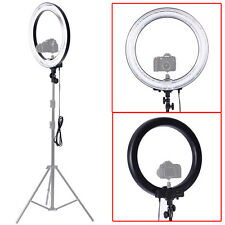 """Neewer 18""""Outer 14""""Inner Dimmable Camera Fluorescent Ring Flash Light Make Up"""