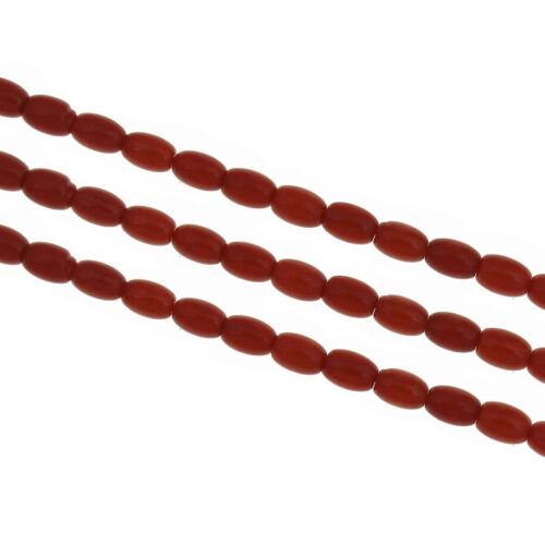 45 Corail Naturel Rouge Gemme Perles Ovale 8 mm Semi À faire soi-même g176#3