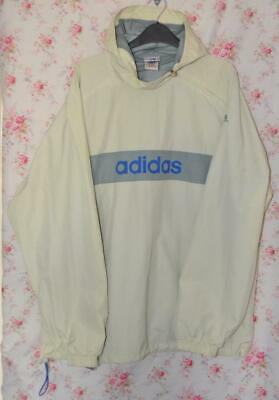 Honest Retro Adidas Hooded Cream Festival Jacket Windbreaker Mens Large 42/44 Low Price Coats & Jackets Clothing, Shoes & Accessories