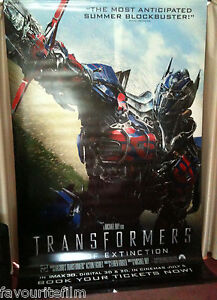 Image Is Loading Cinema Banner TRANSFORMERS AGE OF EXTINCTION 2014 Optimus
