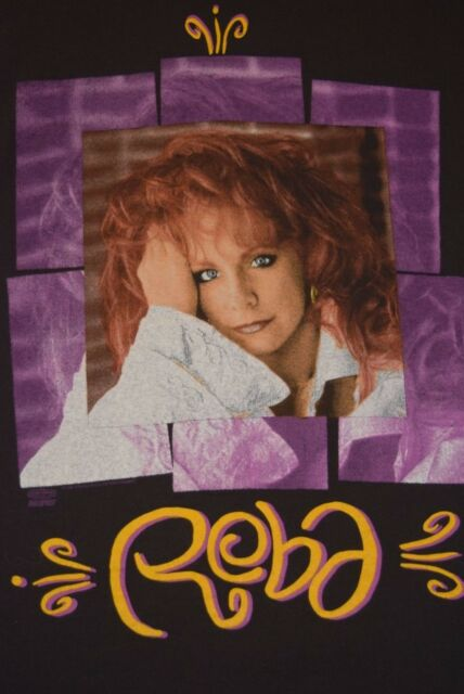 vtg 90s Reba McEntire Tour Dates t shirt Medium M/L Usa Made Country Music