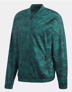 d6c73d5537c1  70 Adidas Woven Lightweight Bomber Jacket Men s LARGE Camo Green ...