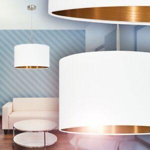 Hangelampe Design Lampe Wohn Ess Zimmer Leuchten Pendelleuchte Stoff