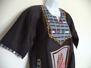 Women-039-s-Handmade-African-Traditional-Dress-With-Design-on-Paint-and-fabric-OSFA
